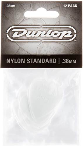 Dunlop 44P.38 Nylon Standard 12/Play Pack Picks
