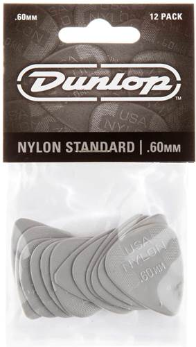Dunlop 44P.60 Nylon Standard 12/Play Pack Picks