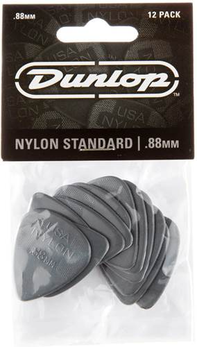 Dunlop 44P.88 Nylon Standard 12/Play Pack picks