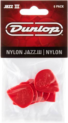Dunlop 47P3N Jazz III Nylon Sharp 1.38mm 6/ Play Pack Picks