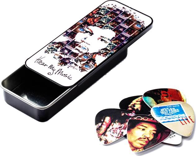 Dunlop JD-JH-PT07M Jimi Hendrix Hear My Music Pick Tin