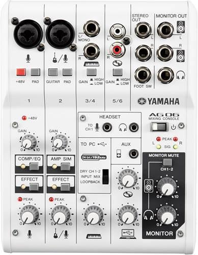 Yamaha AG06 USB Mixer
