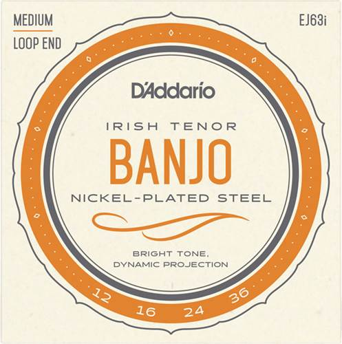 D'Addario EJ63i Irish Tenor Banjo Strings Nickel 12-36