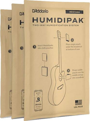 Planet Waves Humidipak System Replacement Packets, 3-pack