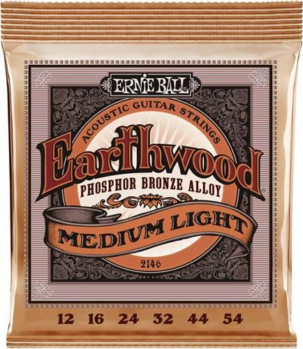 Ernie Ball 2146 Earthwood Acoustic Medium Light 12-54