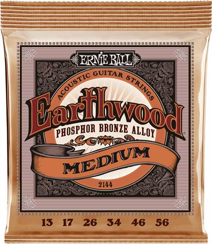 Ernie Ball 2144 Earthwood Acoustic Medium 13-56