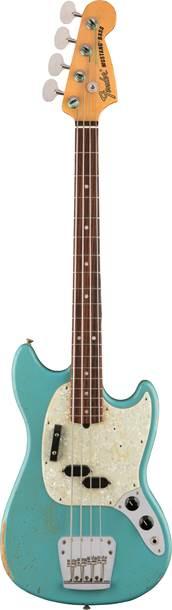 Fender Justin Meldal Johnsen Road Worn Mustang Short Scale Bass Daphne Blue