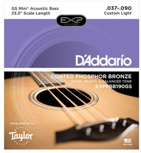 D'Addario Phosphor Bronze Acoustic GS Mini Bass Strings 37-90