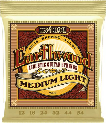 Ernie Ball 2003 Earthwood 80/20 Bronze Medium Light Guitar Strings