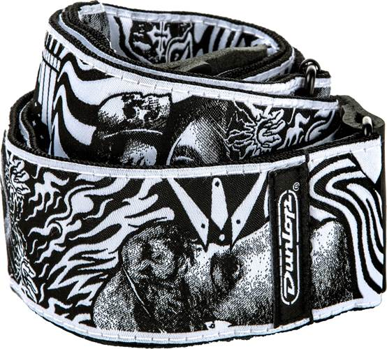 Dunlop ILD04 I Love Dust Strap Skulls Black/White