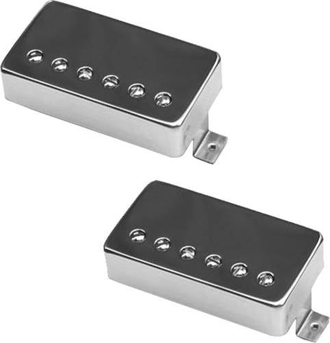 Bare Knuckle PG Blues Calibrated Humbucker 50mm Spacing Braided 2 Conductor Long Leg Nickel Cover