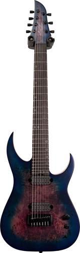 Schecter Keith Merrow KM-7 MK-III Artist Blue Crimson (Ex-Demo) #W18100768