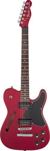 Fender JA90 Jim Adkins Telecaster Crimson Red Transparent Indian Laurel Fingerboard