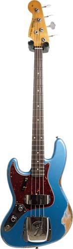 Fender Custom Shop 61 Jazz Bass Heavy Relic Aged Lake Placid Blue LH #R103630