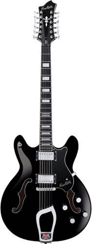 Hagstrom Viking Deluxe 12 String Black
