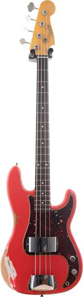 Fender Custom Shop 1959 Precision Bass Heavy Relic Fiesta Red Rosewood Fingerboard Master Builder Designed by Jason Smith #R100601