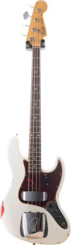 Fender Custom Shop 1964 Jazz Bass Relic Olympic White over Candy Apple Red RW #R94560