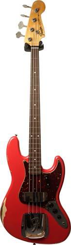 Fender Custom Shop 1964 Jazz Bass Relic Fiesta Red over Desert Sand RW #R100417
