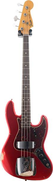 Fender Custom Shop 1964 Jazz Bass Relic Candy Apple Red over Shoreline Gold RW #R99832