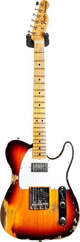Fender Custom Shop 1967 Telecaster Heavy Relic Chocolate 3 Tone Sunburst Maple Fingerboard Master Builder Designed by Dennis Galuszka #R97645
