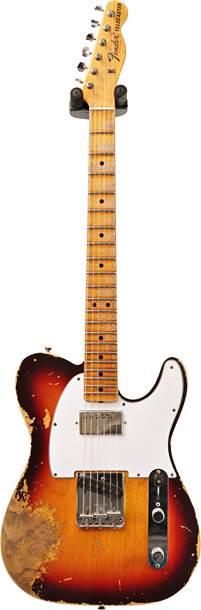Fender Custom Shop 1967 Tele Heavy Relic Chocolate 3 Tone Sunburst Maple Fingerboard Master Builder Designed by Dennis Galuszka #R97660