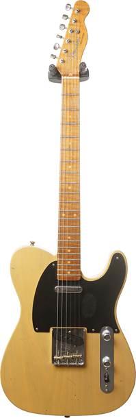 Fender Custom Shop 1953 Telecaster Journeyman Relic Butterscotch Blonde Maple Fingerboard Master Builder Designed by Paul Waller #R100737