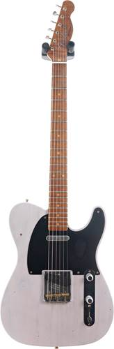 Fender Custom Shop 1953 Tele Journeyman Relic White Blonde Maple Fingerboard Master Builder Designed by Paul Waller #R101040