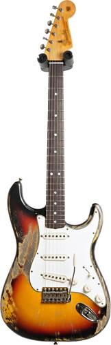 Fender Custom Shop 1965 Strat Relic 3 Tone Sunburst RW Masterbuilt by Greg Fessler #R103314