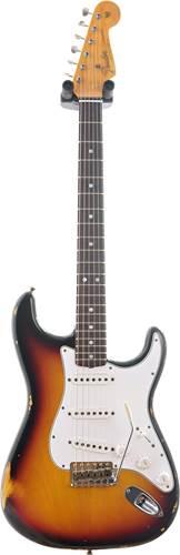 Fender Custom Shop 1965 Strat Relic 3 Tone Sunburst Rosewood Fingerboard #R94313
