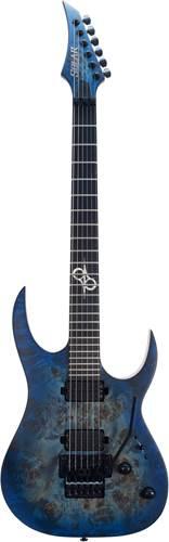 Solar Guitars S1.6FRBLB Poplar Blue Burst Matte