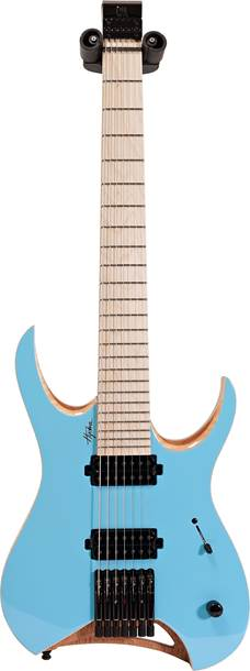 Mayones Hydra Elite 7 Solid Sonic Blue Gloss Front/Satin Back Maple Fingerboard