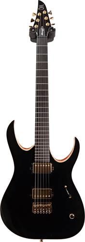 Mayones Duvell Elite 6 Solid Black Gloss Top Matt Back Matching Headstock #DF20011037