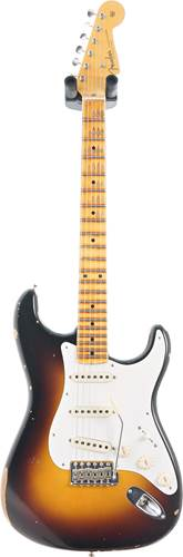 Fender Custom Shop 1956 Stratocaster Relic with Closet Classic Hardware Faded Aged 2 Colour Sunburst #CZ549403