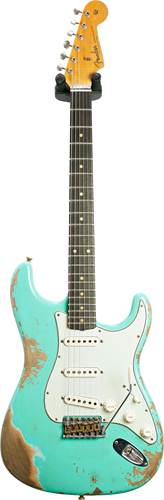 Fender Custom Shop 1960 Stratocaster Heavy Relic Faded Aged Surf Green #CZ548176