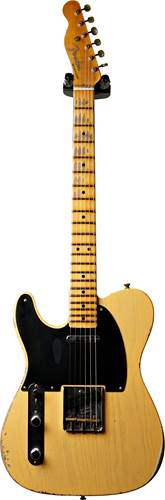 Fender Custom Shop 70th Anniversary Broadcaster Relic Aged Nocaster Blonde LH #R106480
