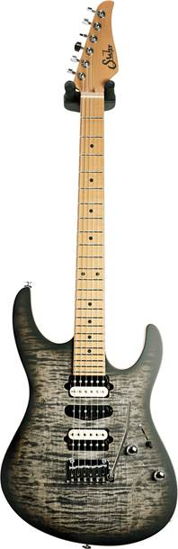 Suhr Modern Satin Flame Trans Charcoal Burst Limited Edition #JS5D2G