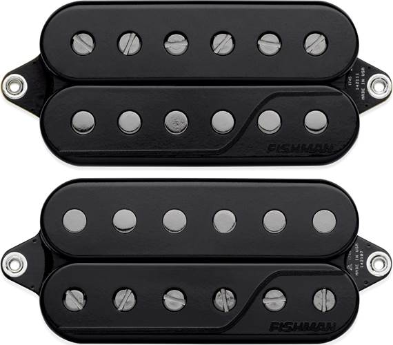 Fishman Fluence Signature Series Javier Reyes 6-String Pickup Set, Black PRF-CS6-JR2