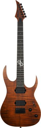 Solar Guitars S2.6FWA Flame Dark Brown Matte