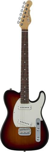 G&L USA Fullerton Deluxe ASAT Special 3-Tone Sunburst Caribbean Rosewood Fingerboard