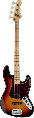 G&L USA Fullerton Deluxe JB 3-Tone Sunburst Maple Fingerboard