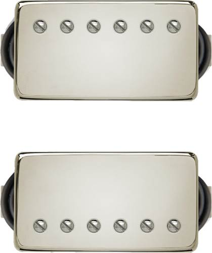Bare Knuckle PG Blues Calibrated Humbucker Set 53mm 4 Conductor Short Leg Nickel Cover