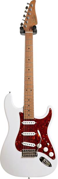 Suhr guitarguitar Select #157 Classic Trans White 5A Roasted Maple Fingerboard