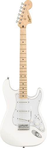 Squier Affinity Strat Olympic White Maple Fingerboard