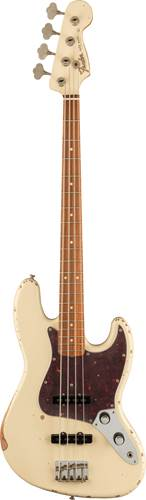 Fender Vintera 60th Anniversary Road Worn 60s Jazz Bass Olympic White Pau Ferro Fingerboard