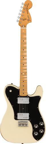 Fender Vintera Road Worn 70s Telecaster Deluxe Olympic White Maple Fingerboard