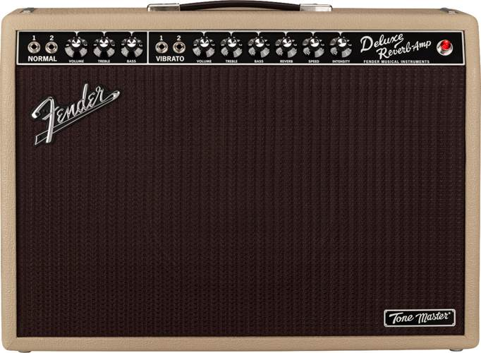 Fender Tone Master Deluxe Reverb Blonde 1x12 Combo Solid State Amp