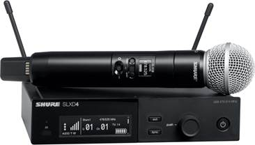 Shure SLXD24UK/SM58-K59 Wireless System with SM58 Handheld (Rack Mount)