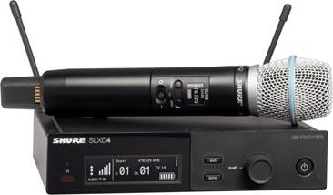 Shure SLXD24UK/B87A-K59 Wireless System with Beta87A Handheld (Rack Mount)