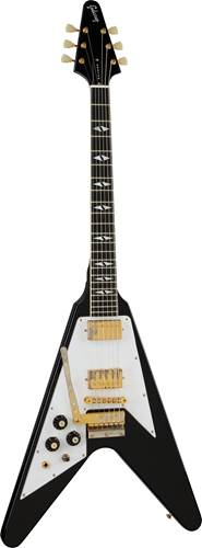 Gibson Custom Shop 69 Flying V Left Jimi Hendrix Ebony Aged Gold Hardware