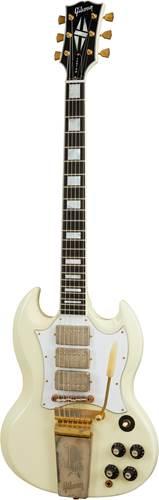 Gibson Custom Shop 67 SG Custom Jimi Hendrix Classic White Aged GM